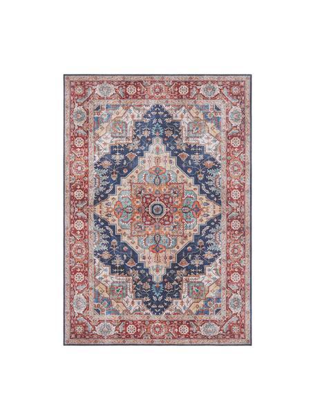 Teppich Sylla im Vintage Style, Blau, Rot, B 80 x L 150 cm (Größe XS)