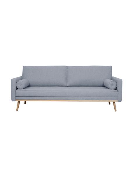 Sofa Saint (3-Sitzer) in Blaugrau mit Eichenholz-Füßen, Bezug: Polyester Der hochwertige, Gestell: Massives Kiefernholz, Spa, Webstoff Blaugrau, 210 x 70 cm