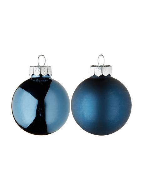 Set 16 mini palline di Natale Evergreen Ø 4 cm, Blu scuro, Ø 4 cm