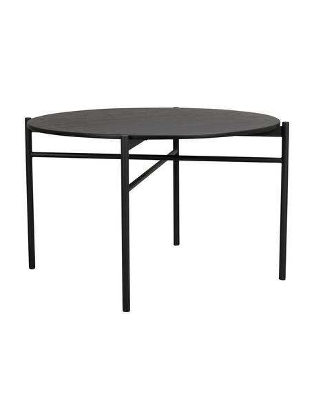 Tavolo rotondo Skye, Piano d'appoggio: pannello in fibra di medi, Gambe: metallo verniciato a polv, Nero, Ø 120 x Alt. 75 cm