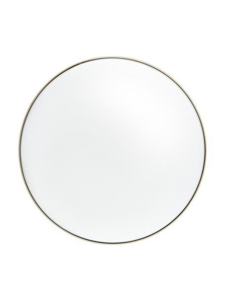 Runder Wandspiegel Ivy mit messingfarbenem Metallrahmen, Rahmen: Metall, vermessingt, Rückseite: Mitteldichte Holzfaserpla, Spiegelfläche: Spiegelglas, Messingfarben, Ø 40 x T 3 cm