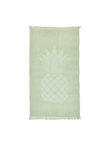 Toalla de playa Capri Pineapple, Verde claro, An 90 x L 160 cm
