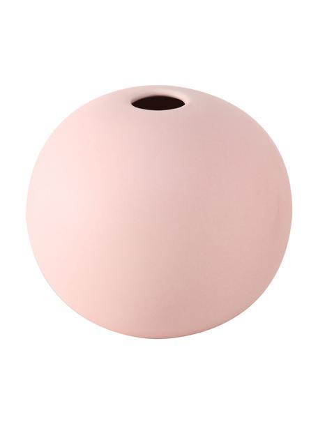 Kleine Vase Dilan aus Steingut, Steingut, Rosa, Ø 12 x H 11 cm