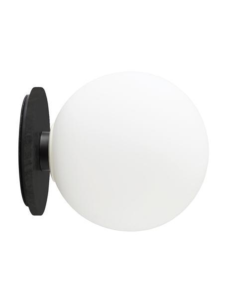LED-wand- en plafondlamp TR Bulb, Lampenkap: opaalglas, Wit, zwart, Ø 20 x D 22 cm