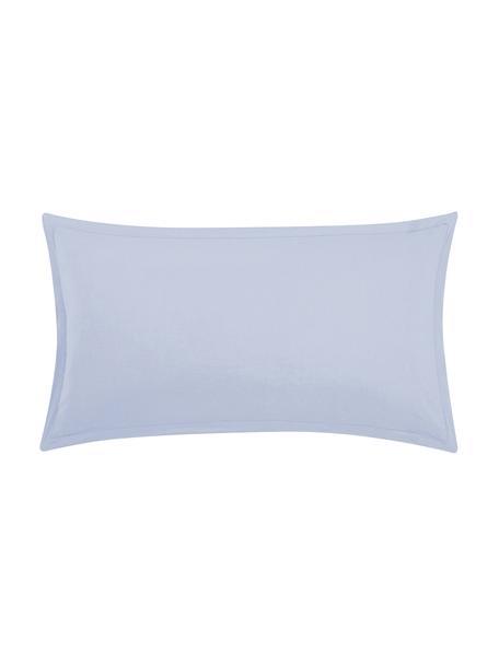 Poszewka na poduszkę z lnu z efektem sprania Nature, 2 szt., Jasny niebieski, S 40 x D 80 cm
