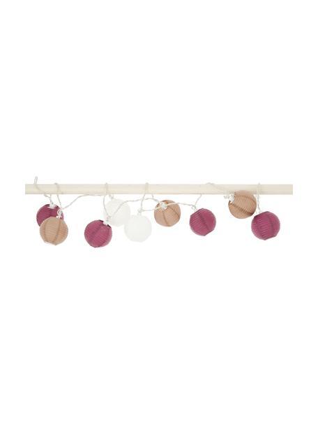 LED lichtslinger Ibiza, 330 cm, Papier, kunststof, Roze, mauve, wit, L 330 cm