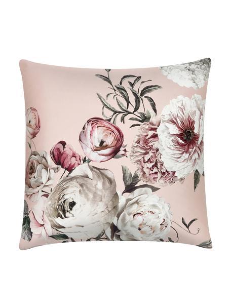Katoensatijnen kussenhoezen Blossom, 2 stuks, Weeftechniek: satijn Draaddichtheid 210, Roze, 65 x 65 cm