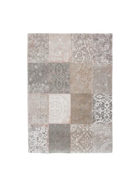 Vloerkleed Multi, Bovenzijde: 85% chenilledraad (katoen, Weeftechniek: jacquard, Onderzijde: katoenmix, gecoat met lat, Beige, grijs, B 200 x L 280 cm (maat L)
