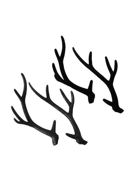 Set de piezas decorativas Crany, 4pzas., Plástico, Negro, An 16 x Al 30 cm