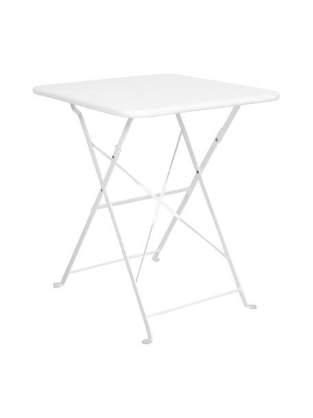 Inklapbare balkontafel Daisy van metaal, Gepoedercoat metaal, Wit, 58 x 71 cm