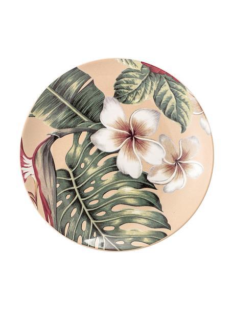 Piattino da dessert Aruba 2 pz, Terracotta, Bianco crema, verde, rosso, Ø 20 cm