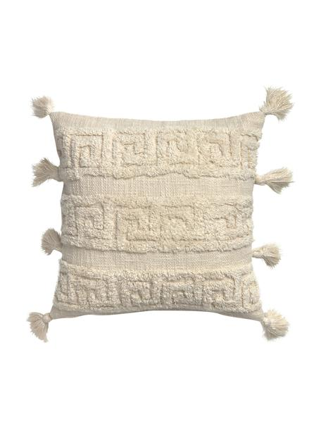 Poszewka na poduszkę boho Hera, 100% bawełna, Odcienie kremowego, S 45 x D 45 cm