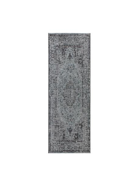 In- & outdoor loper Cenon in vintage look, 100% polypropyleen, Blauwtinten, 80 x 200 cm