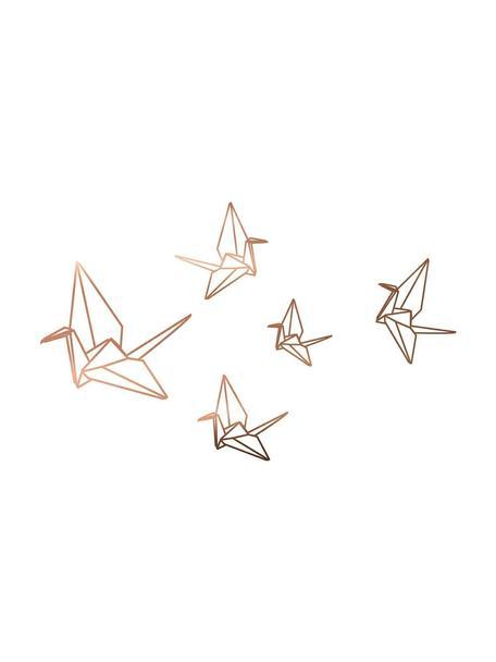 Pegatinas de pared Origami, Vinilo adhesivo, Bronce, An 60 x Al 40 cm