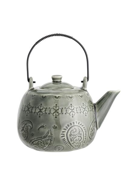 Ręcznie wykonany czajnik Rani, Zielony, 1 l