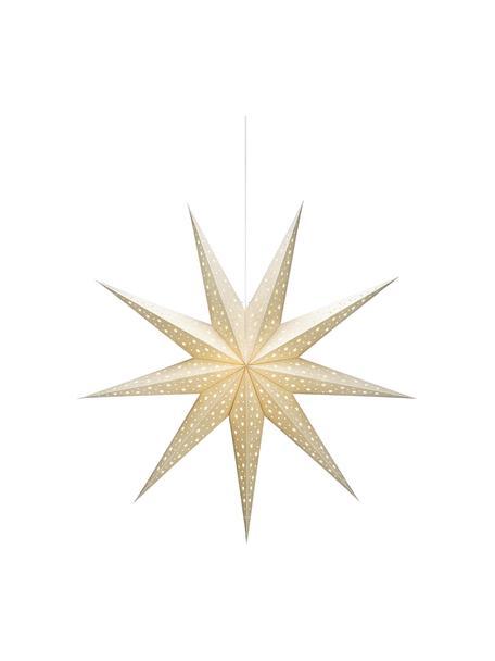 Lampa w kształcie gwiazdy Solvalla, Lampa w kształcie gwiazdy: odcienie złotego Kabel: biały, Ø 100 x G 28 cm