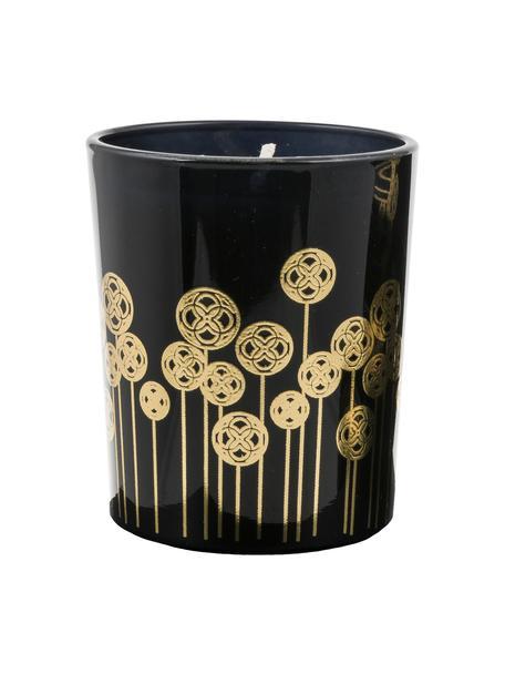 Duftkerzen Pamakkule (Lilie, Rose & Orangenblüte), 3 Stück, Behälter: Glas, Schwarz, Goldfarben, Ø 6 x H 7 cm