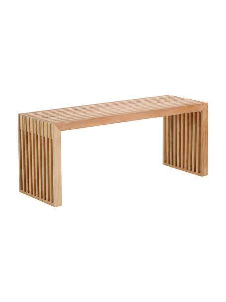 Panca in legno di teak di design Rib, Legno di teak, Teak, Larg. 104 x Alt. 43 cm