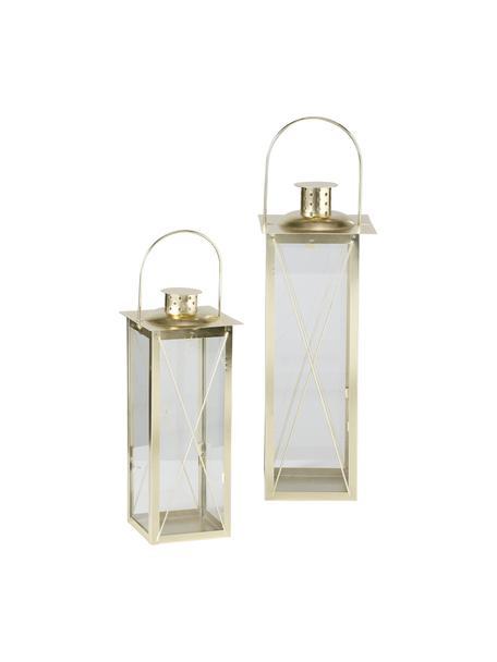 Set 2 lanterne Farol, Metallo verniciato, Dorato, Set in varie misure
