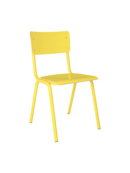 Silla Back to School, Patas: metal, pintado en polvo, Amarillo, An 43 x F 49 cm