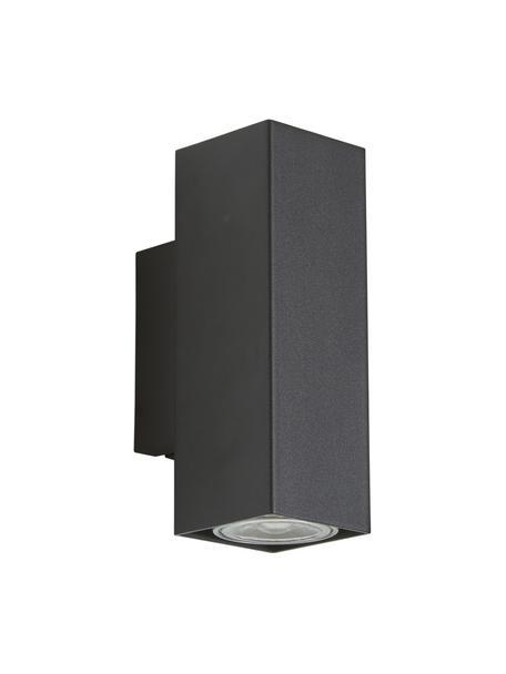 Applique a LED Peter, Paralume: metallo verniciato a polv, Nero, Larg. 5 x Alt. 8 cm