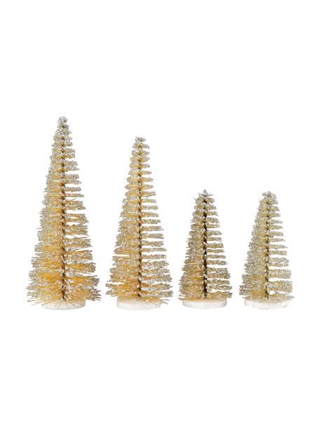 Deko-Objekt-Set Glam, 4-tlg., Kunststoff, Metall, Goldfarben, Set mit verschiedenen Grössen