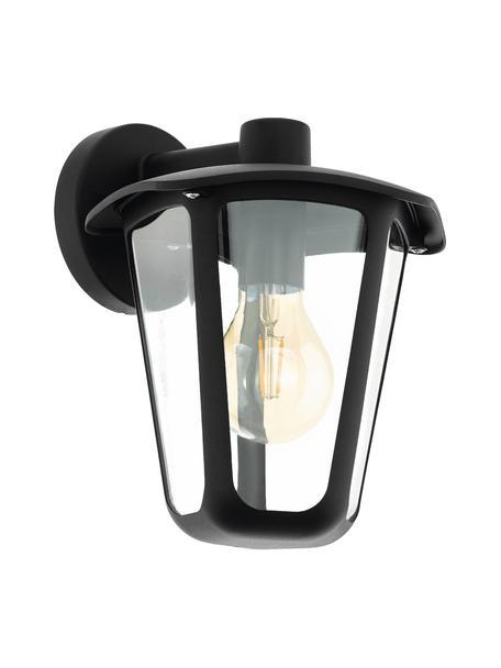 Buitenwandlamp Monreale, Aluminium, kunststof, Zwart, 23 x 28 cm