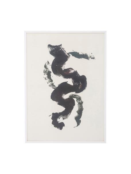 Gerahmter Digitaldruck Fredrik, Rahmen: Kiefernholz, beschichtet, Bild: Papier, Schwarz, Weiß, 52 x 72 cm
