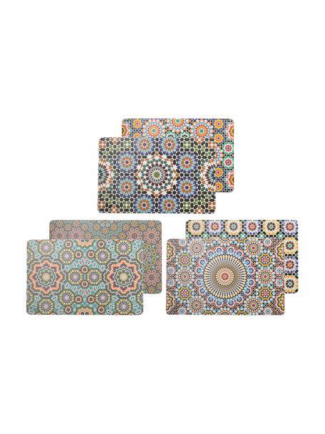 Dubbelzijdig bedrukte kunststoffen placemats Marrakesch Doubleface, 6-delig, Kunststof, Multicolour, 30 x 45 cm