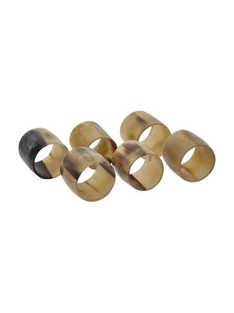 Serviettenringe Jay, 6 Stück, Horn, Horn, Ø 4 cm