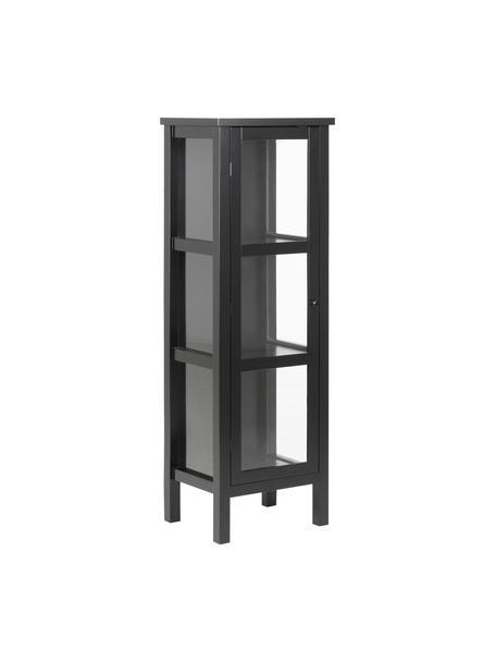 Witryna z drewna i szkła Eton, Stelaż: płyta pilśniowa średniej , Czarny, S 36 x W 137 cm