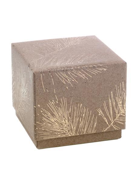 Pudełko prezentowe Ferice, Papier pakowy, Brązowy, odcienie złotego, S 10 x W 9 cm