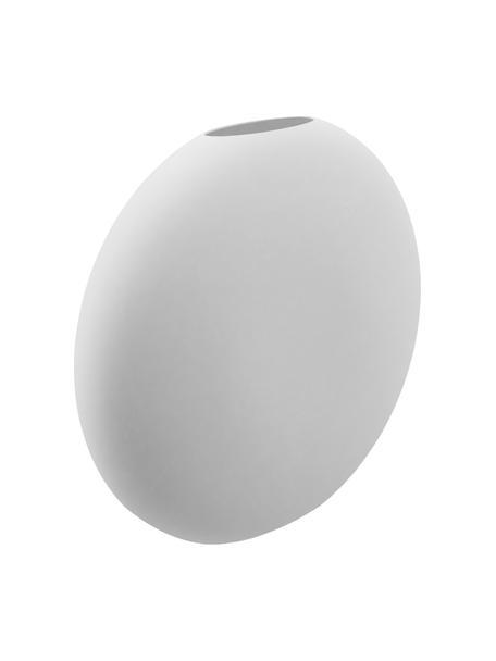 Jarrón artesanal de cerámica Pastille, Cerámica, Blanco, An 20 x Al 19 cm