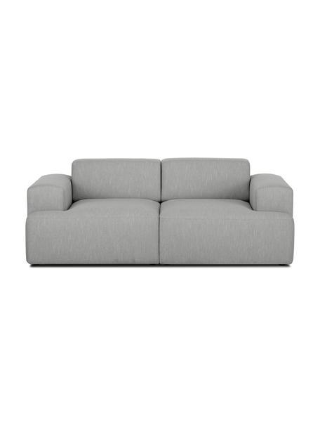 Sofa Melva (2-Sitzer) in Grau, Bezug: Polyester Der hochwertige, Gestell: Massives Kiefernholz, Spa, Füße: Kiefernholz, Webstoff Grau, B 200 x T 101 cm