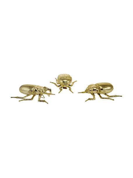 Set de escarabajos decorativos, 3pzas., Resina, Dorado, An 11 x Al 4 cm