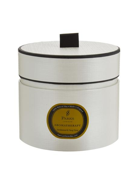 Vela perfumada con tres mechas Aromatherapy (sándalo y ylang ylang), Recipiente: cristal, Blanco, verde, Al 11 x Ø 12 cm