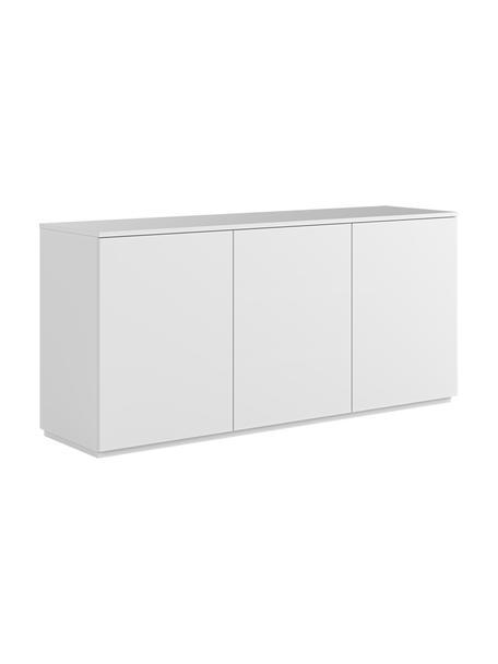 Wit dressoir Join met deuren, Gelakt MDF, Wit, 180 x 84 cm