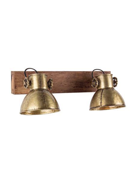 Aplique Zurine, Pantalla: hierro, Dorado, An 51 x Al 27 cm