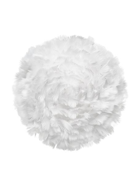 Aplique de plumas EOS, Pantalla: plumas de ganso, tela, Blanco, Ø 30 x F 14 cm