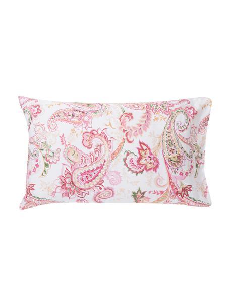 Fundas de almohada de satén Touch, 2uds., Agodón satinado, Blanco, multicolor, An 50 x L 80 cm