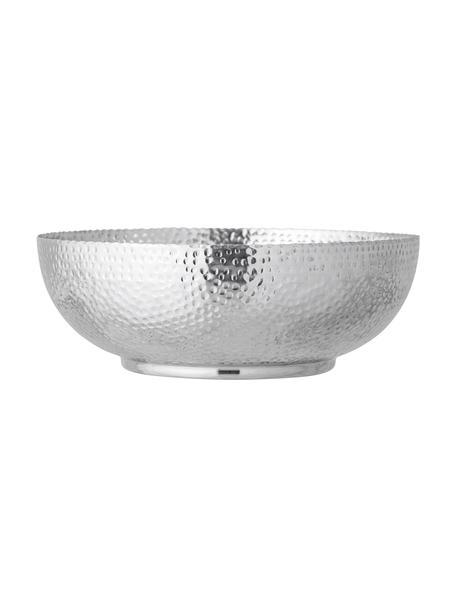 Schüssel Dalton Ø 35 cm aus Aluminium, Aluminium, gehämmert, Silberfarben, Ø 36 x H 13 cm