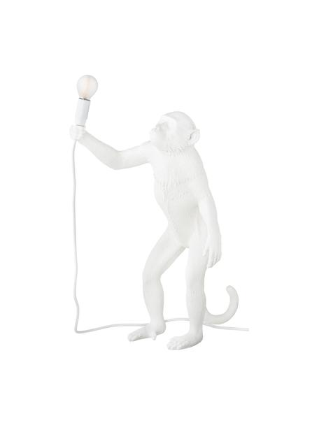 Design outdoor tafellamp Monkey met stekker, Lamp: kunsthars, Wit, 46 x 54 cm
