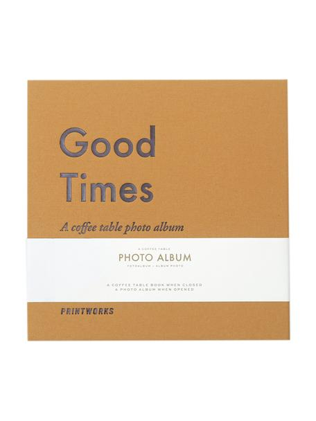 Álbum de fotos Good Times, Amarillo, gris, blanco, negro, L 25 x An 25 cm