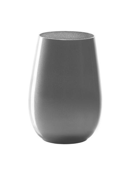 Kryształowa szklanka do koktajli Elements, 6 szt., Szkło kryształowe, powlekany, Odcienie srebrnego, Ø 9 x W 12 cm