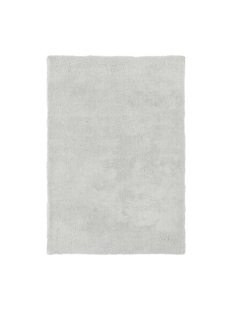Tappeto peloso morbido grigio chiaro Leighton, Retro: 70% poliestere, 30% coton, Grigio chiaro, Larg. 200 x Lung. 300 cm (taglia L)