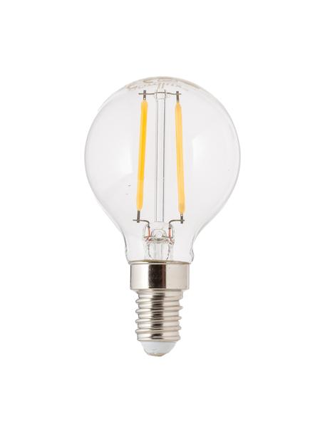 E14 Leuchtmittel, 2.5W, warmweiß, 5 Stück, Leuchtmittelschirm: Glas, Leuchtmittelfassung: Aluminium, Transparent, Ø 5 x H 8 cm