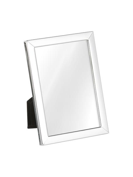 Cornice da tavolo argentata Aosta, Cornice: metallo argentato, Retro: pannello di fibra a media, Argento, 13 x 18 cm