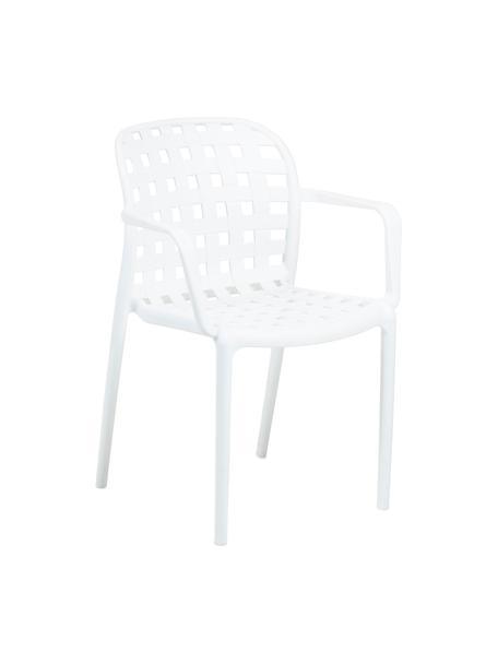 Stapelbare Gartenstühle Isa aus Kunststoff, 2 Stück, Kunststoff, Weiß, B 58 x T 58 cm