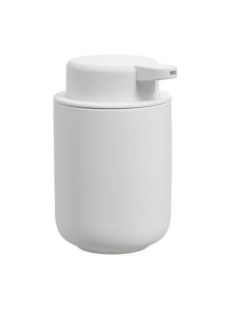 Seifenspender Ume aus Steingut, Behälter: Steingut überzogen mit So, Weiss, matt, Ø 8 x H 13 cm