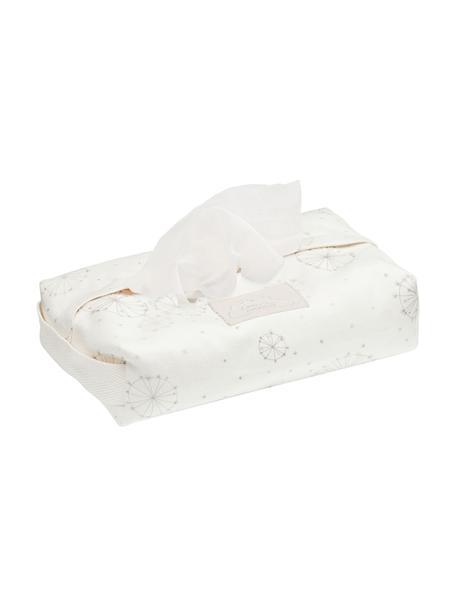 Porta salviettine in cotone organico Dandelion, 100% cotone organico, Crema, beige, Larg. 25 x Prof. 17 cm